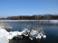 Парк победы. Теплое озеро.