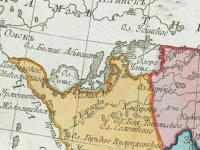 Фрагмент карты Колыванскаго Наместничества. [Спб., 1792].
